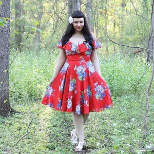 Trashy Diva Butterflies Begonias Hollywood Dress